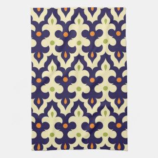 Damask paisley arabesque Moroccan pattern Tea Towel