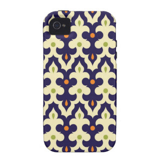 Damask paisley arabesque wallpaper pattern Case-Mate iPhone 4 cases