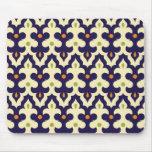 Damask paisley arabesque wallpaper pattern mousepads