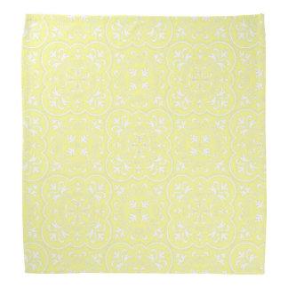 Damask Pastel Yellow High Quality Color Matching Bandana