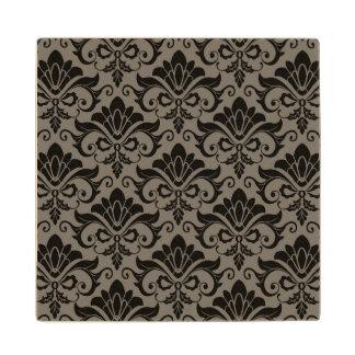 Damask Pattern 2 Wood Coaster