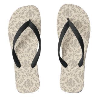 Damask pattern 3 flip flops