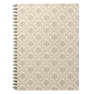 Damask pattern 3 spiral notebook