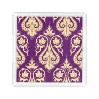 Damask Pattern 4 Acrylic Tray