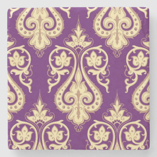 Damask Pattern 4 Stone Coaster