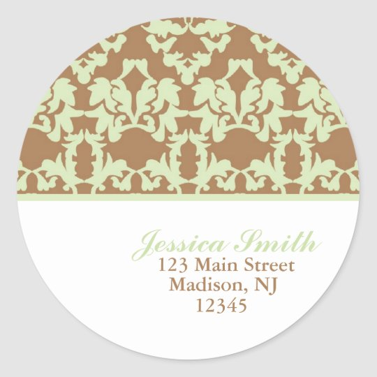 Damask Pattern Address Labels