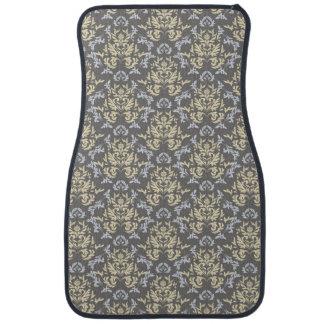 Damask pattern car mat
