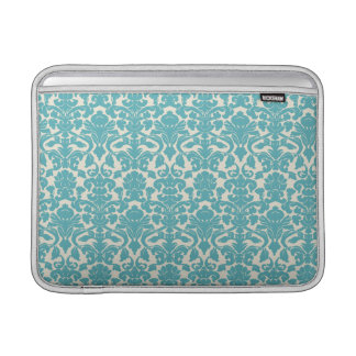 Damask Pattern, Damask Background - Blue White Sleeve For MacBook Air