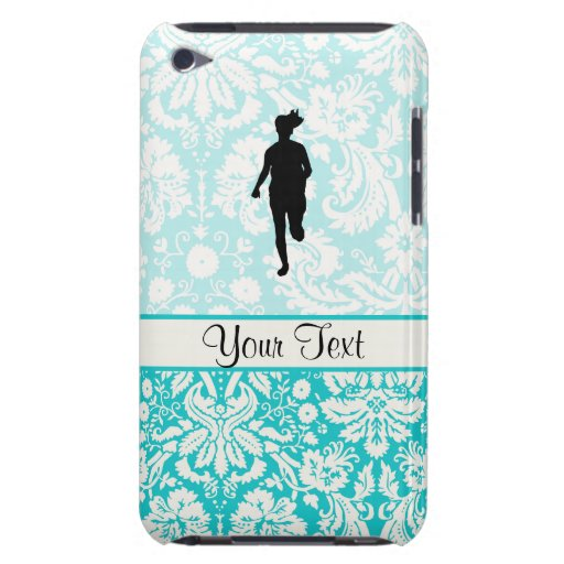 Damask Pattern; Girl Running Barely There iPod Covers