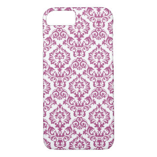 Damask Pattern Magenta iPhone 8/7 Case