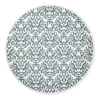 Damask pattern on gradient background 2 ceramic knob
