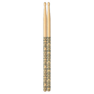 Damask pattern on gradient background 2 drumsticks