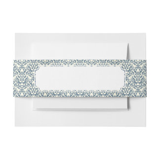Damask pattern on gradient background 2 invitation belly band