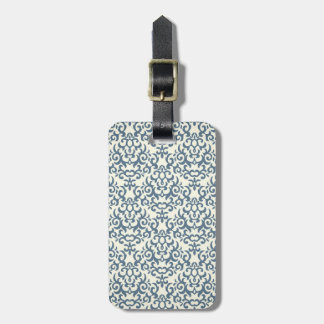 Damask pattern on gradient background 2 luggage tag