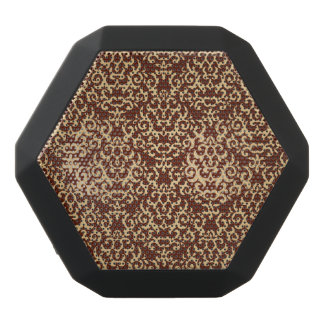 Damask pattern on gradient background black bluetooth speaker