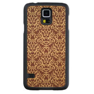 Damask pattern on gradient background carved maple galaxy s5 case