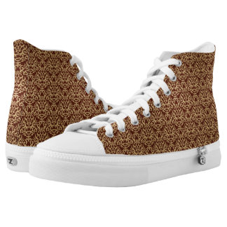 Damask pattern on gradient background high tops