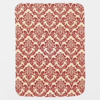 Damask pattern wallpaper baby blanket
