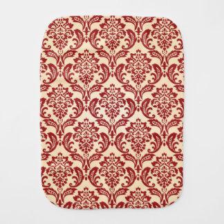 Damask pattern wallpaper baby burp cloth