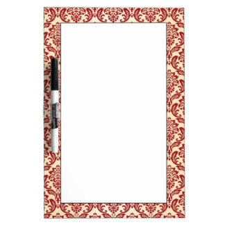 Damask pattern wallpaper dry erase whiteboards