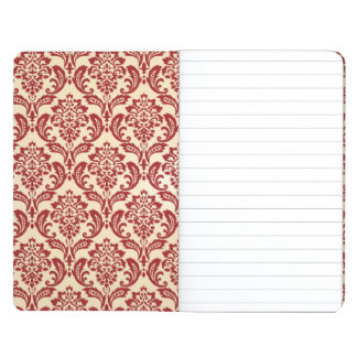 Damask pattern wallpaper journals