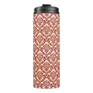 Damask pattern wallpaper thermal tumbler