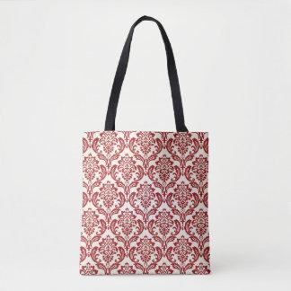 Damask pattern wallpaper tote bag