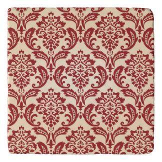 Damask pattern wallpaper trivet