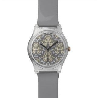 Damask pattern watch