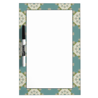 Damask pattern with abstract elements dry erase boards
