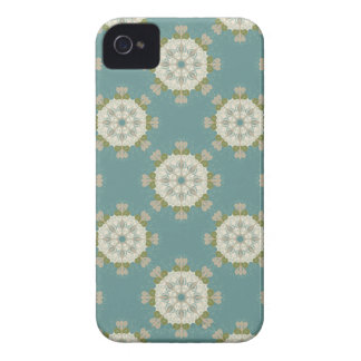 Damask pattern with abstract elements iPhone 4 case