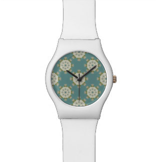 Damask pattern with abstract elements watch