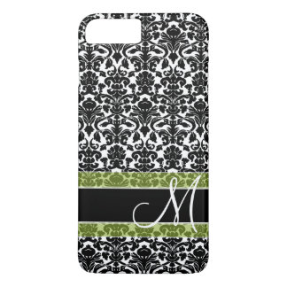 Damask Pattern with Monogram iPhone 8 Plus/7 Plus Case