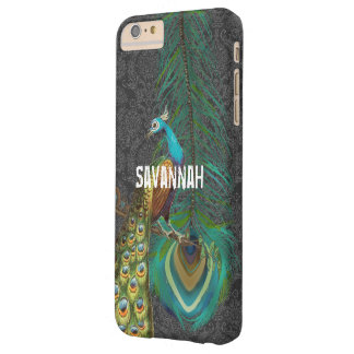 Damask Peacock & Feather You Choose Color Barely There iPhone 6 Plus Case