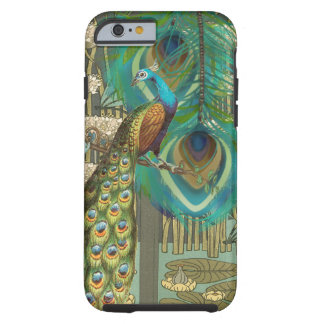 Damask Peacock & Feather You Choose Color Tough iPhone 6 Case