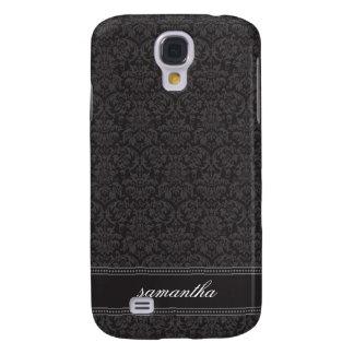 Damask Pern (black) Galaxy S4 Case
