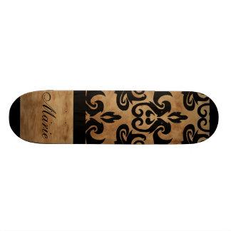 Damask Personalize Name Skate Deck