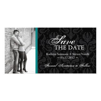 Damask Photo Save The Date Invitation Photo Card