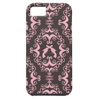 Damask pink black guns grunge western pistols chic tough iPhone 5 case