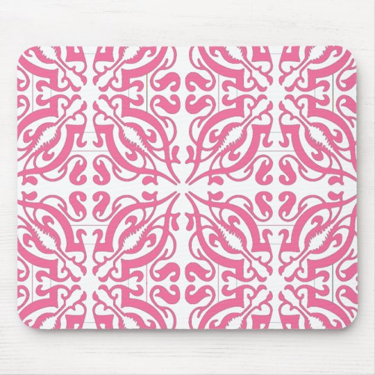 DAMASK - Pink Mouse Mat