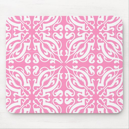 DAMASK - Pink Mousepad