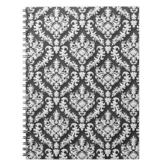 Damask Print in Gray - Gorgeous! Spiral Notebook