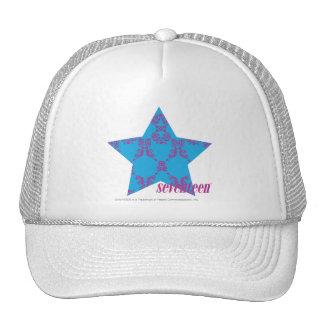 Damask Purple-Aqua 2 Mesh Hat