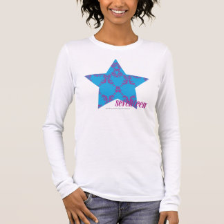 Damask Purple-Aqua 2 Long Sleeve T-Shirt
