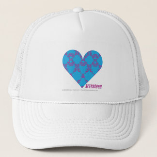 Damask Purple-Aqua 3 Trucker Hat
