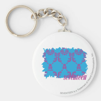 Damask Purple-Aqua 4 Key Ring