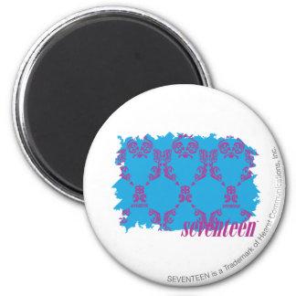 Damask Purple-Aqua 4 Refrigerator Magnet