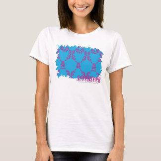 Damask Purple-Aqua 4 T-Shirt
