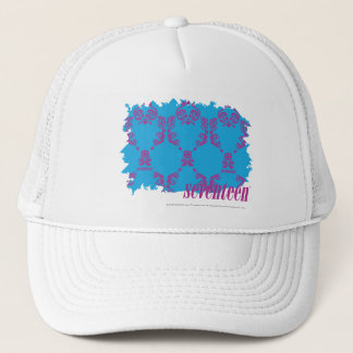 Damask Purple-Aqua 4 Trucker Hat