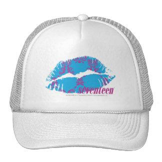 Damask Purple-Aqua Cap